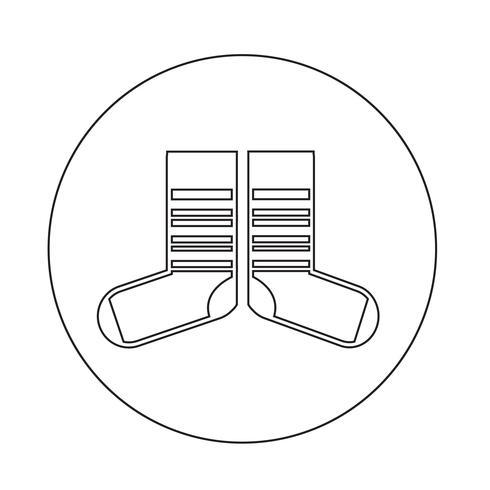 sock icon vektor