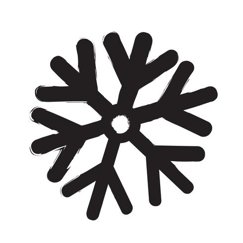 Schneeflocke Symbol Vektor-Illustration vektor