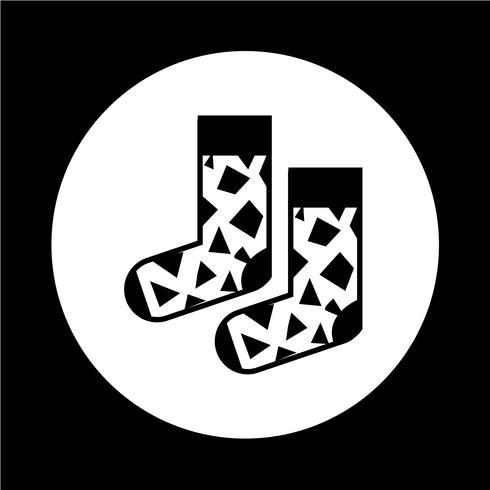 Socken-Symbol vektor