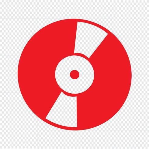 Retro- Vinylaufzeichnungsikonen-Vektorillustration vektor