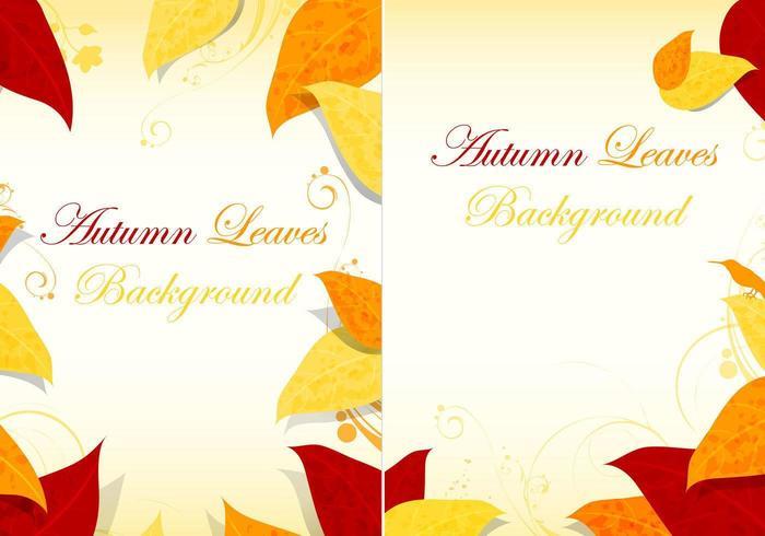 Fall Leaves Bakgrund Vector Pack
