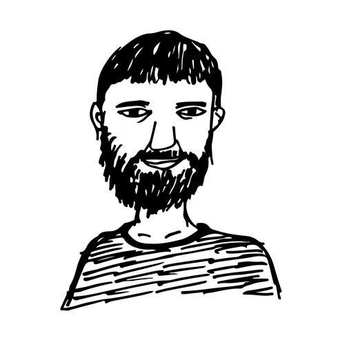 Menschen Gesicht Hand zeichnen vektor