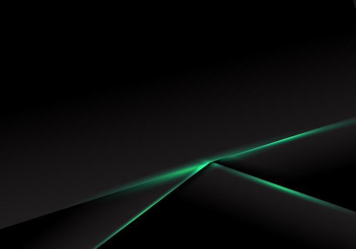 Abstrakt mall svart ramlayout med grönt neonljus på mörk bakgrund. Futuristisk teknik koncept. vektor