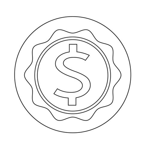 dollar teckenikon vektor