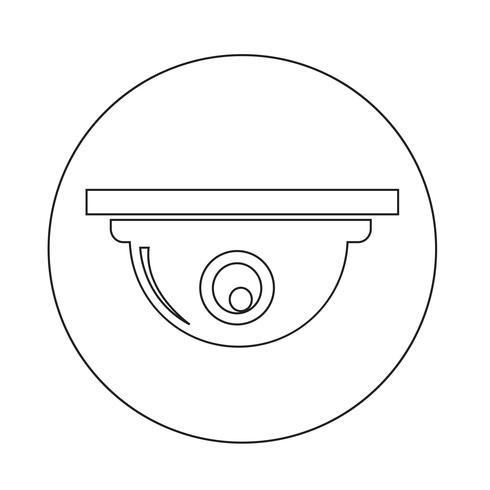 CCTV Kamera Ikon vektor