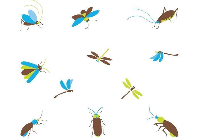 tecknad insekt vektor pack