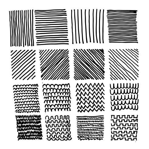 Hand gezeichnete Gekritzelskizzenlinie vektor