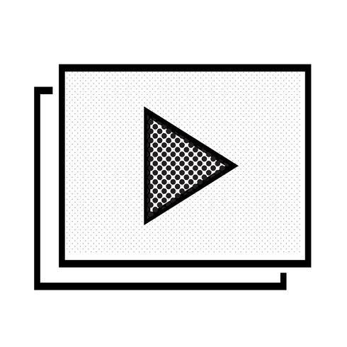 Video Stream Play-ikon vektor