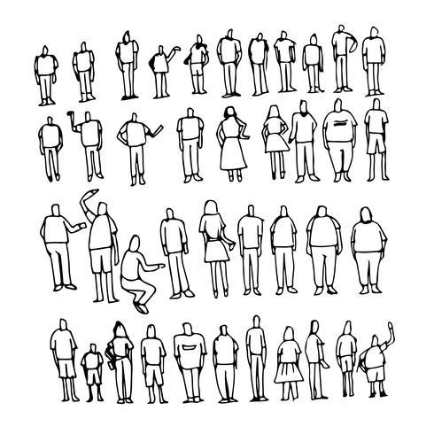 Människor tecknad ikon vektor