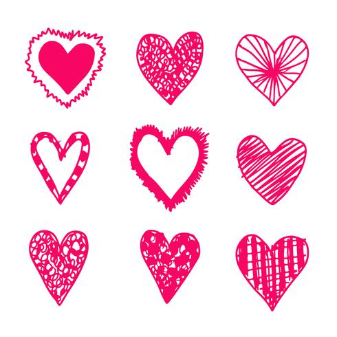 Hand zeichnen Herz-Symbol vektor