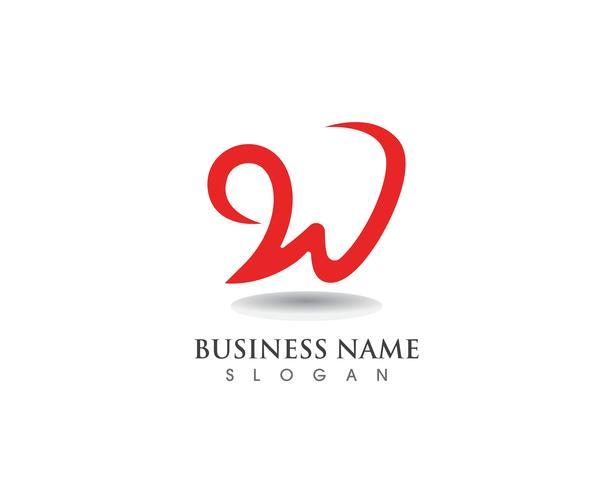 W Logo Business und Symbole Vorlage vektor