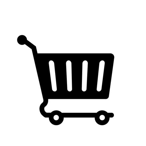 Online Warenkorb Icon Vektor