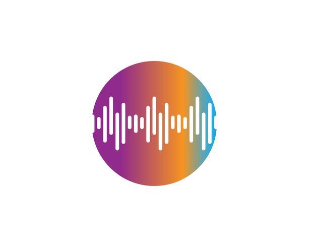 ljudvåg ilustrationlogo vektor ikonmall