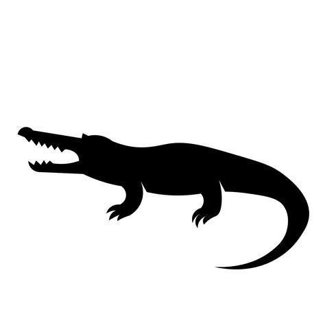 Krokodil-Ikonen-Vektor vektor