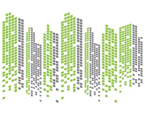 Moderne Skyline der Stadt. Stadtsilhouette. Vektor-Illustration im flat Design vektor