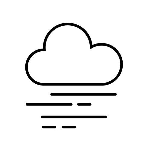 Wolken- und Nebel-Ikonen-Vektor vektor