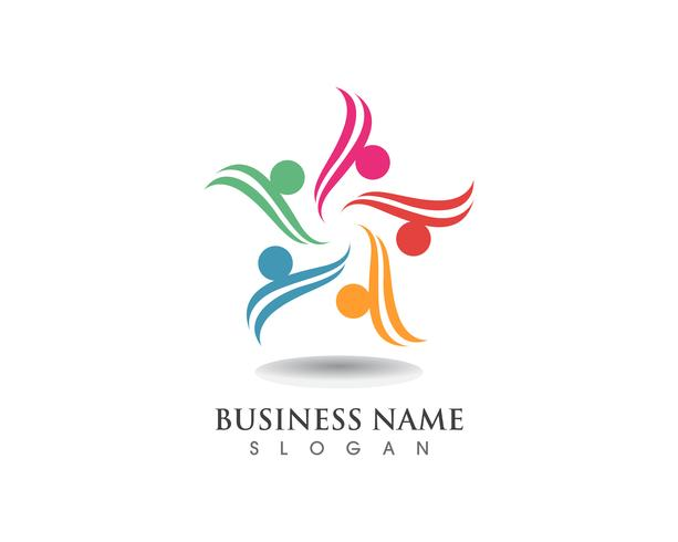 Group Star People Care-Logo vektor