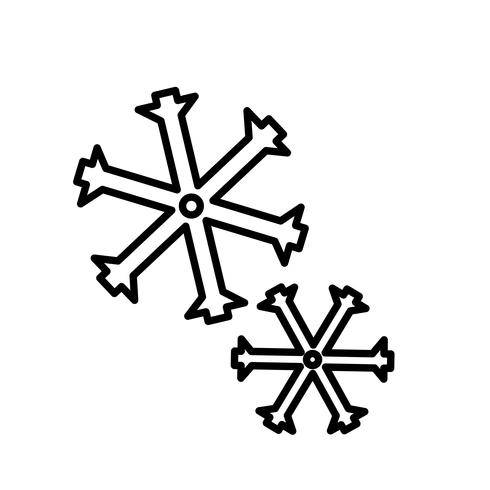 Schneeflocken Icon Vektor
