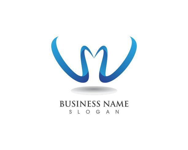 W-logotypens affärs- och symbolmall vektor