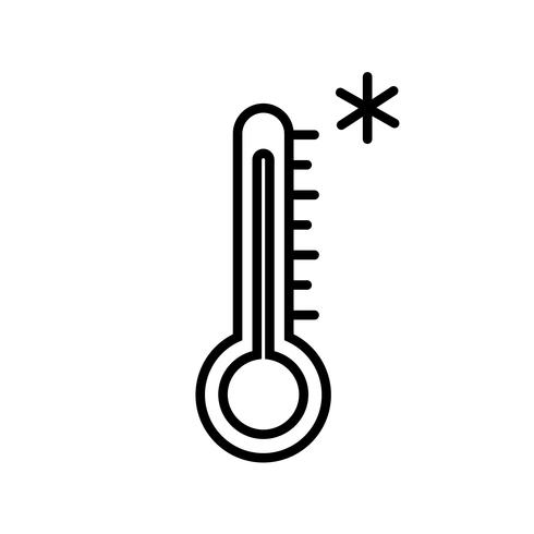 Kall vädertermometer ikonvektor vektor