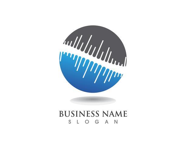 Wave Music notation symboler logotyp och ikoner vektor