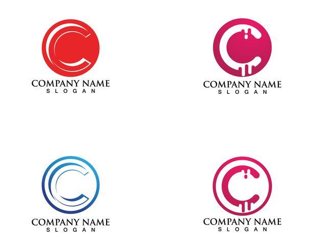 C-logotyp och symboler vektormall vektor