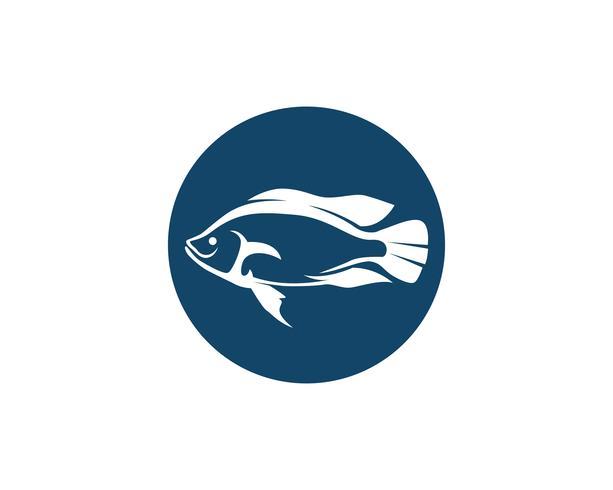 Fisklogotypmall. Kreativ vektor symbol för fiskeklubben eller online