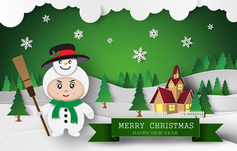 Jul söt barn vektor
