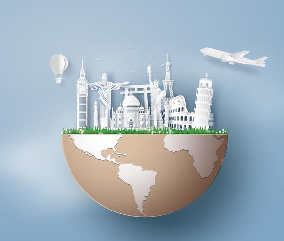 Illustration av världsturismens dag vektor