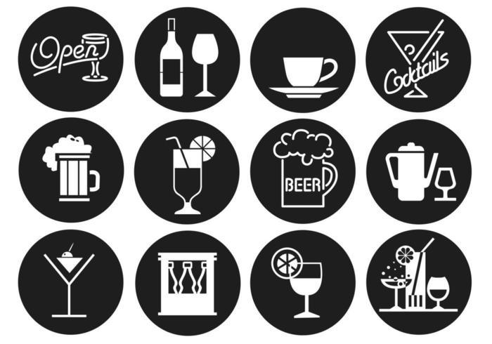 Getränke und Bar Vector Pack