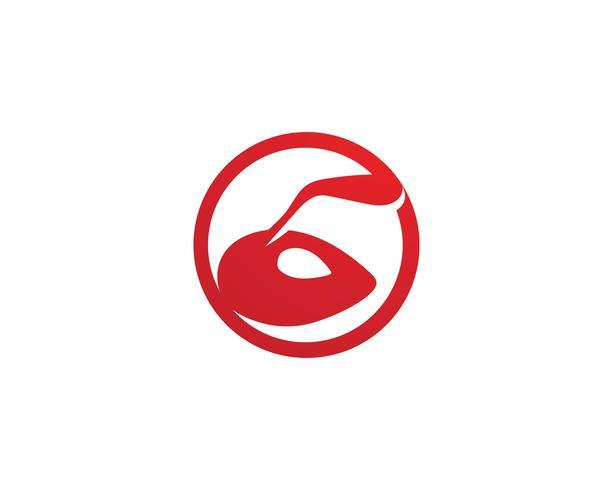 Myrhuvud Logo mall vektor illustration