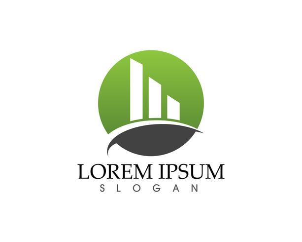 Business finance logo och symboler vektor koncept