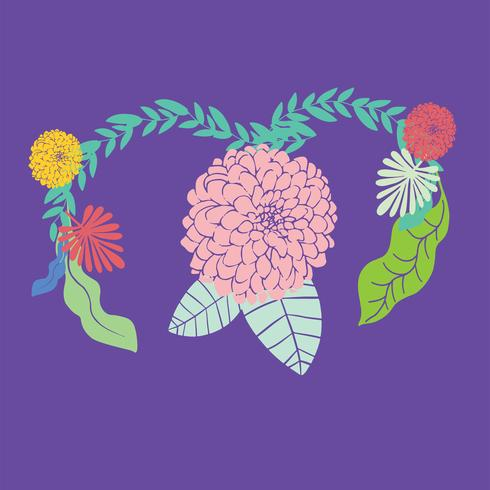 kvinna med livmoderhälsa koncept på rosa bakgrund vektor