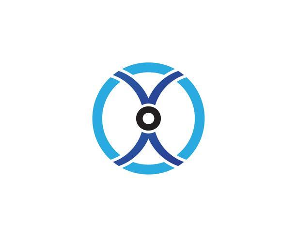Symboler för cirkelringlogo och symbolmallar vektor