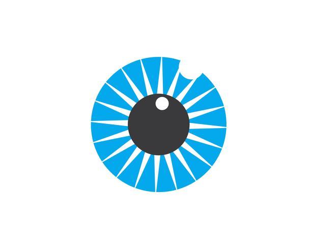 Augenpflege-Vektor-Logo-Design-Vorlage vektor