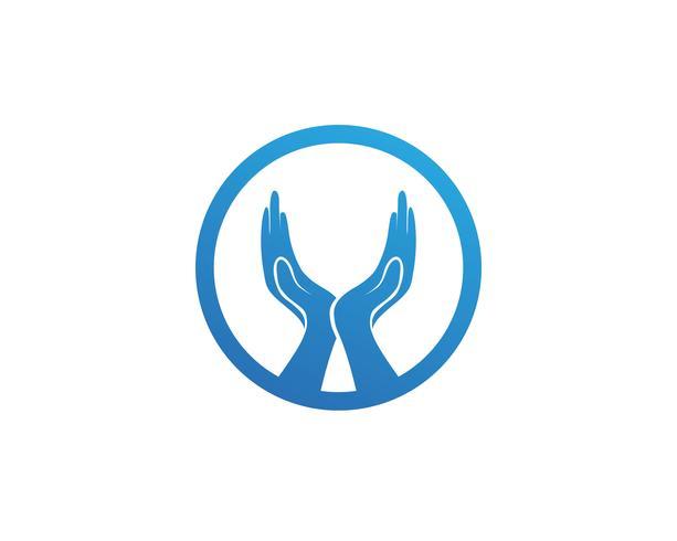 Hjälp handlogotyp och vektormall symboler vektor