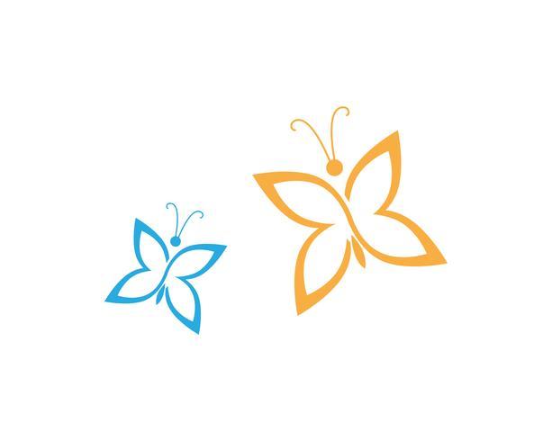 Schmetterling konzeptionelle einfache, bunte Symbol. Logo. Vektor