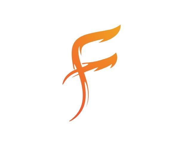 F brevlogo och symboler mall vektor ikoner ,,