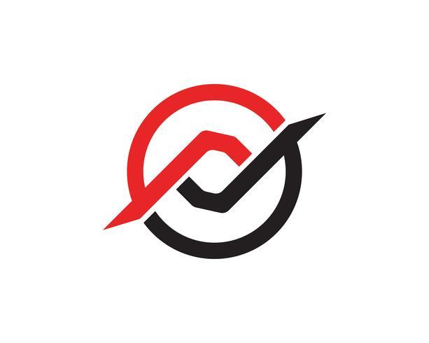 finans logo och symboler vektor koncept illustration vektor