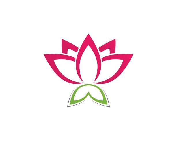Lotus Flower Sign für Wellness, Spa und Yoga. Vektor