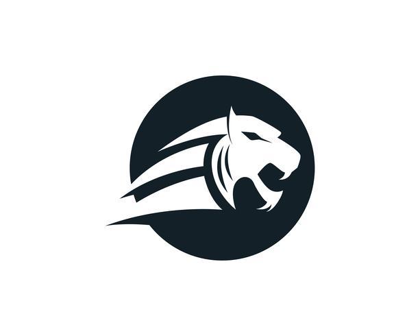 Tigerhauptlogomaskottchen auf weißem Hintergrund vektor
