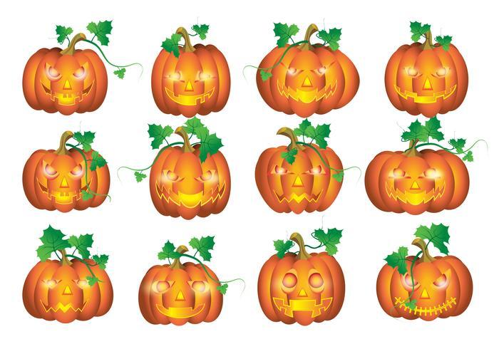 Sätt pumpor till Halloween vektor