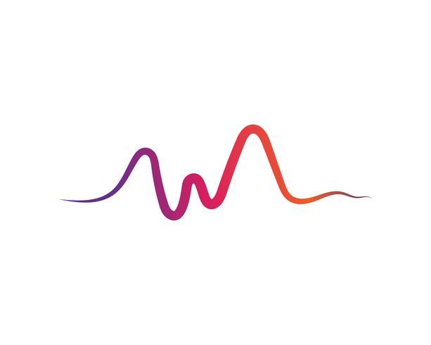 soundwave ilustration logo vektor ikon mall
