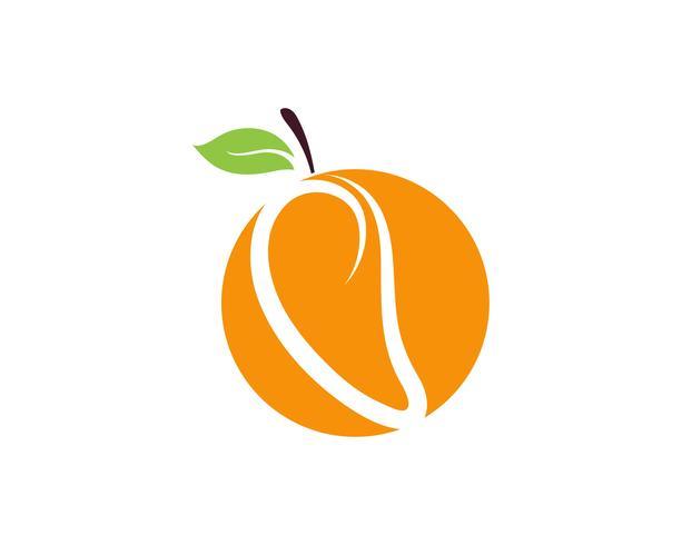 Mango im flachen Stil. Mango-Vektor-Logo. Mango vektor
