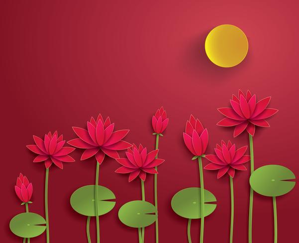 vektorpapper lotus. vektor