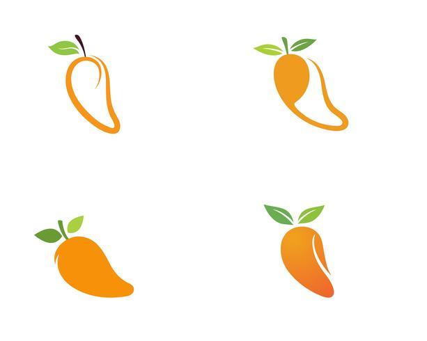 Mango i platt stil. Mango vektor logotyp. Mango