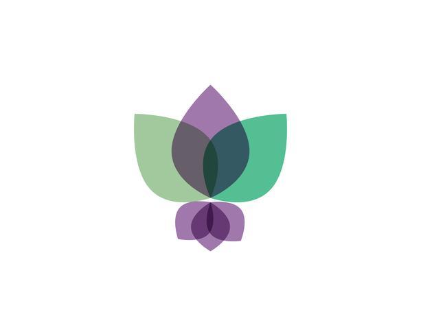 Lotus Flower Sign für Wellness, Spa und Yoga vektor