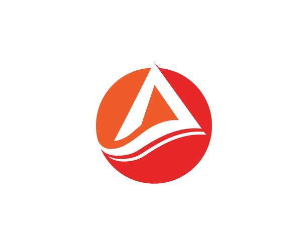 Ein Logo-Geschäfts-Schablonen-Vektor vektor