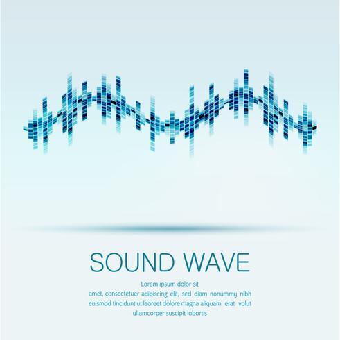 Abstrakt digital equalizer, Creative design ljudvågmönster. vektor