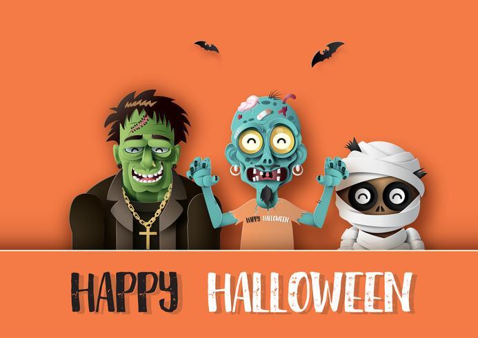 Fröhliche Halloween-Party vektor